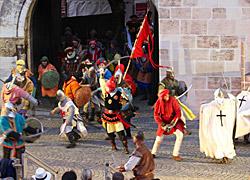 Staufersaga und Stauferfest bei 850jährigem Stadtjubiläum Schwäbisch Gmünd