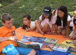 Spielplatz Vorleser
